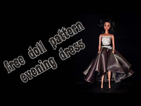 Make your own doll clothes - evening dress 3 - YouTube