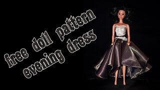 Make your own doll clothes - evening dress 3