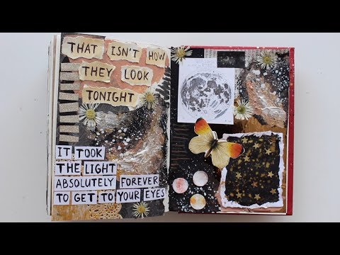 Art Journal Inspiration #18 (ASMR - no talking)