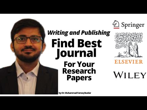 How to find best journals for research papers? Journal suggester . Find journal for your articles.