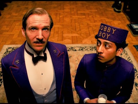 The grand budapest hotel take your hands off my lobby boy scene