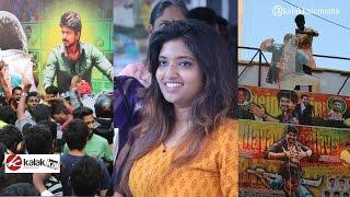 Vijay Fans Celebrate Bairavaa FDFS at Kasi Theatre