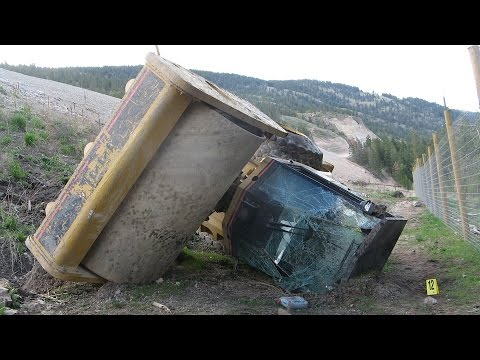 Compactor Rollover Injures Operator