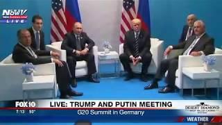 HISTORIC MEETING: President Trump and Vladimir Putin First Meeting (FNN)