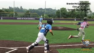 Brandon Mcclain-Banks (IF) - Class of 2023 - Summer 2021 Hitting & Fielding Highlights