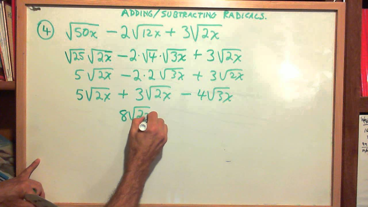 Test Prep Adding Subtracting Multiplying Radicals 11612 – Adding Subtracting Radicals Worksheet
