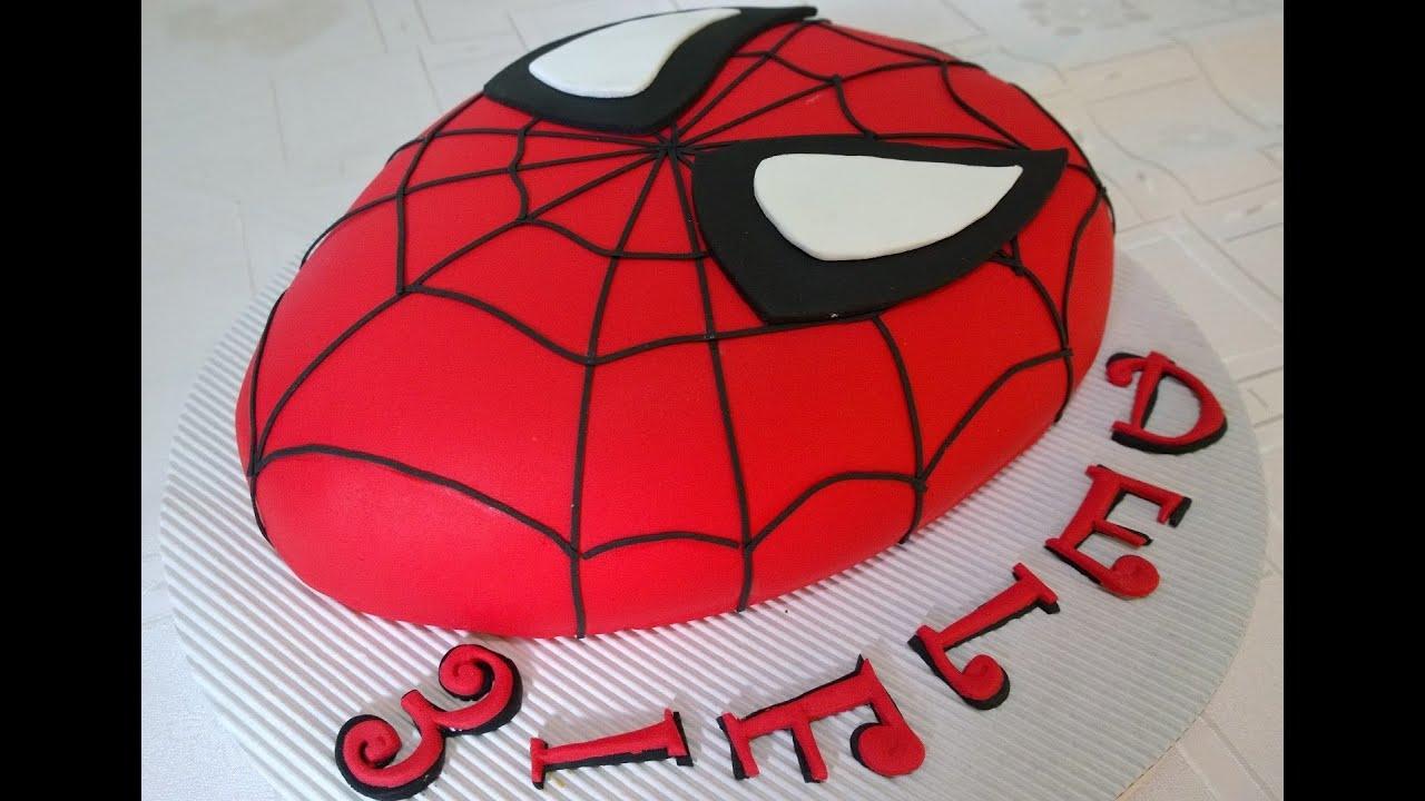 torta hombre ara a spiderman cake youtube. Black Bedroom Furniture Sets. Home Design Ideas