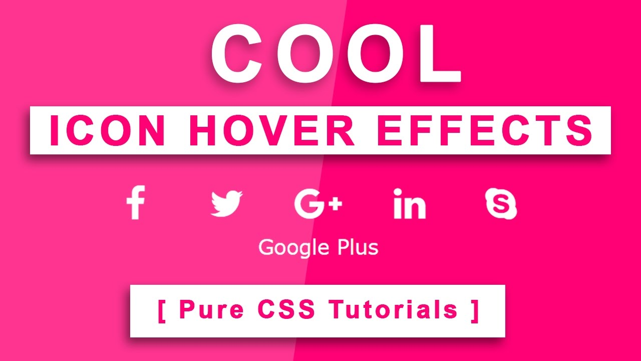 Cool CSS Icon Hover Effects - Font Awesome icon - Pure CSS3 Tutorials -  Html Css Text Typing Effects