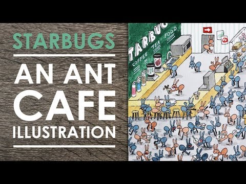 STARBUGS - An Ant Cafe Illustration