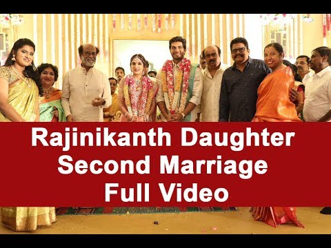 Rajinikanth Daughter Second Marriage Full Video
