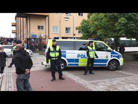 Motdemonstrationer under Pride i Falun den 23/9 2017