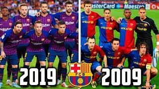 видео: Барселона 10 лет назад | сезон 2008/2009 vs 2018/2019 | #10YearsChallenge / #10летназад
