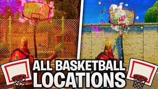"ALL BASKETBALL HOOP LOCATIONS in FORTNITE! [""SCORE A BASKET ON DIFFERENT HOOPS""] WEEK 2 CHALLENGES"