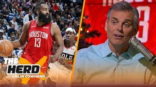 Colin Cowherd isn't falling for the James Harden hype after his historic December | NBA | THE HERD