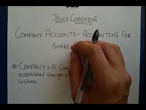 Company Accounts- #1 Accounting For Share Capital Basic Concept in Hindi for 12th by JOLLY Coaching
