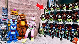 CAN ANIMATRONICS HIDE FROM ZOMBIE PIRATE ARMY? PLANTS vs ZOMBIES! (GTA 5 Mods FNAF Kids RedHatter)