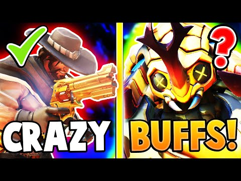 CRAZY BUFFS! McCree, Orisa and Roadhog Get BUFFED! Overwatch Update!