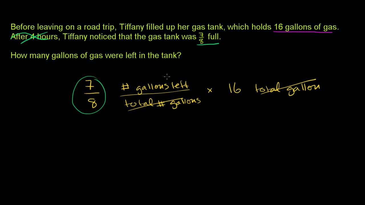 Multiplying Fractions Word Problems (ex 1) - YouTube
