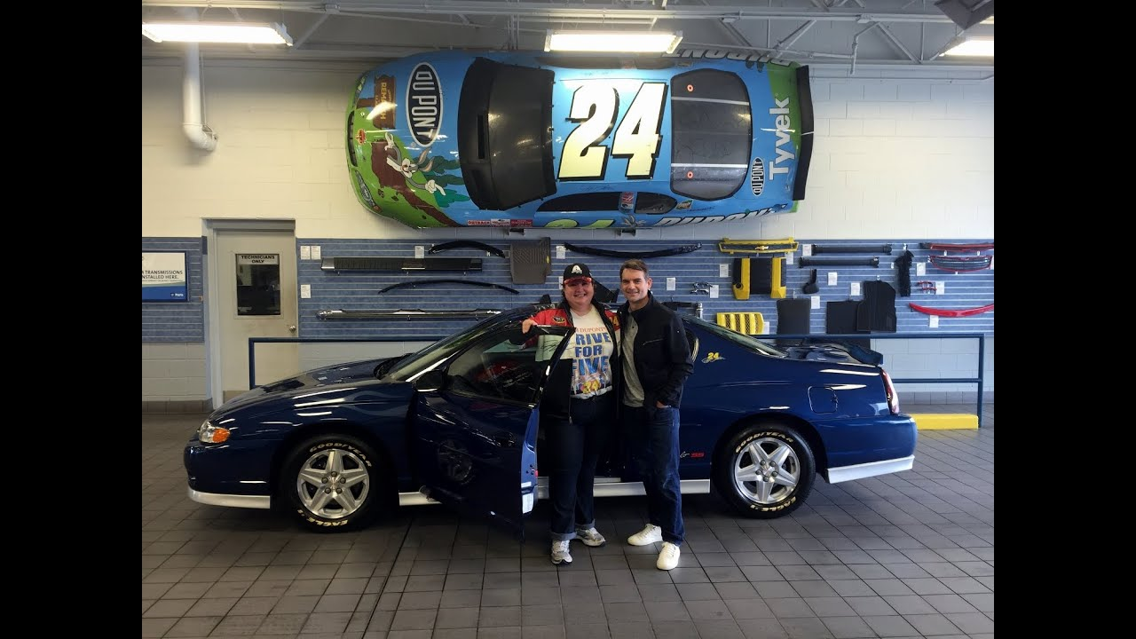 Jeff Gordon Chevrolet >> Jeff Gordon Gives Super Fan Loraine His Personal 2003 Jeff Gordon