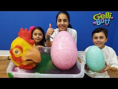 Huge Egg Surprise Toys in Gelli Baff  for kids Pretend Play