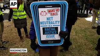 Protesters Rally Against FCC Net Neutrality Vote