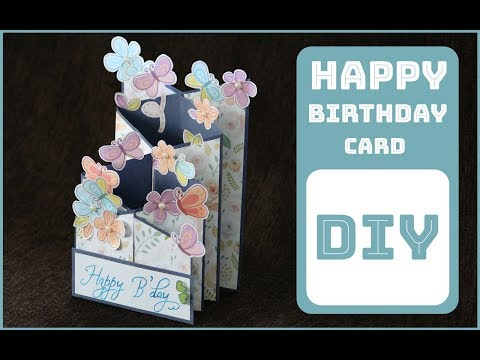 Cascading Card for SCRAPBOOK | Greeting Cards for Birthday
