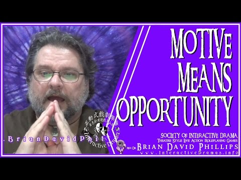 Of Motive, Means, and Opportunity