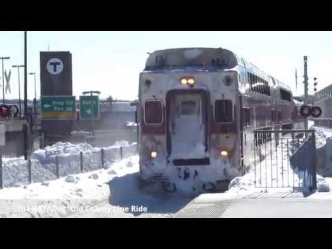 TheMBTADog: MBTA Old Colony Commuter Rail Ride in Snow - Braintree to South Station (2015-02-13)