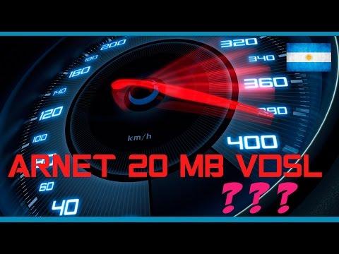 Speedtest de Arnet 20 MB Con VDSL en Argentina