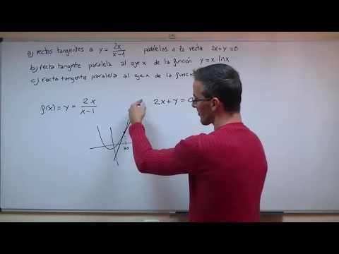 Ecuacion recta tangente 02 BACHILLERATO selectividad matematicas