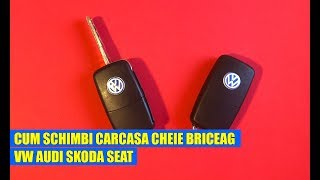 TUTORIAL: Cum schimbi carcasa cheie briceag VW Skoda AUDI Seat in 11 pasi