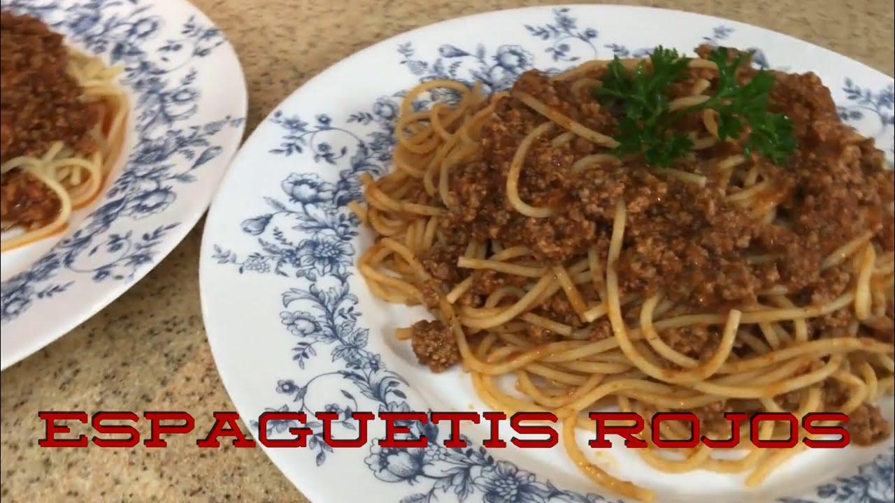 Espaguetis Rojos - Cocinando Con Gloria - Cocina A Mi Estilo - YouTube