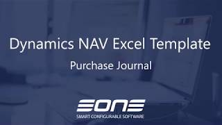 Excel Integration with Dynamics NAV - Purchase Journal