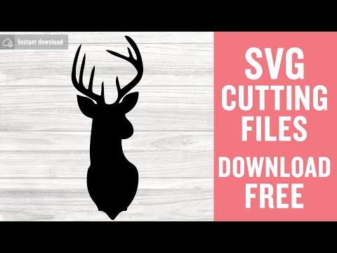 Reindeer Svg Free Files Deer Head Svg Deer Svg Free Free Download Free Vector Files Svg Files Silhouette Cut Files Png Dxf Eps 0158 Freesvgplanet