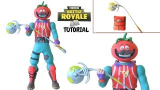 TOMATO HEAD | TOMATOIDE | FORTNITE | CLAY TUTORIAL | COLD PORCELAIN