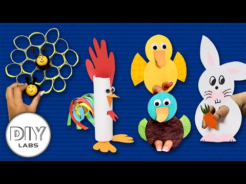 4 Cute Farm Animals | Crafts for Parents | Fast-n-Easy | DIY Labs