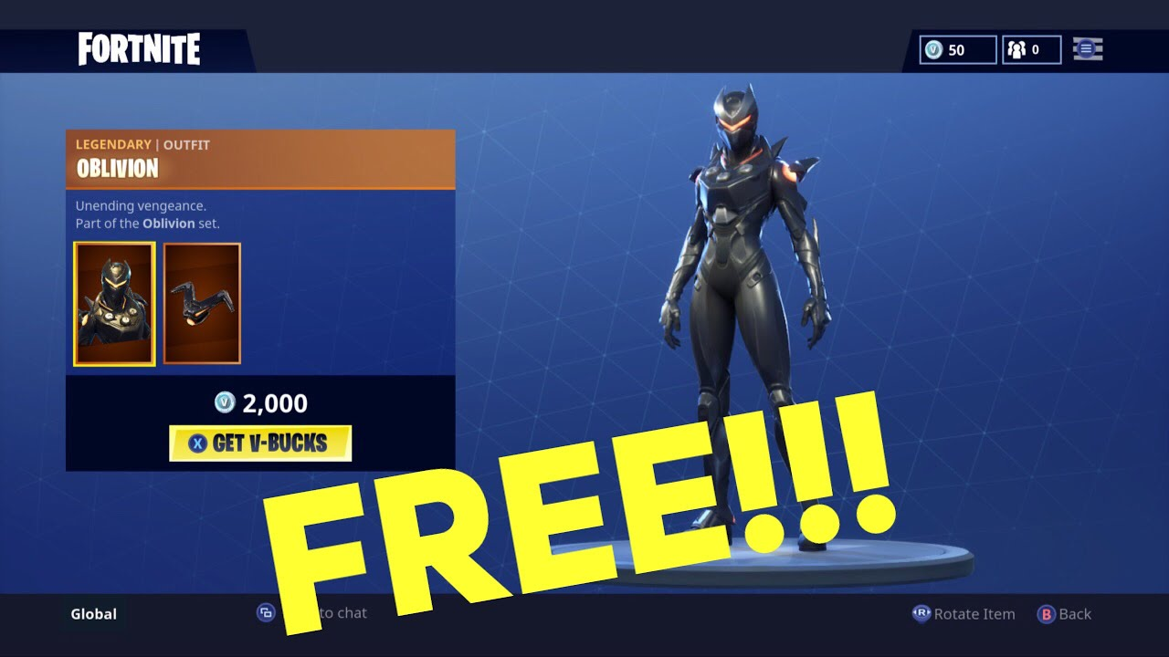 How To Get The New Oblivion Skin In Fortnite For Free Free V