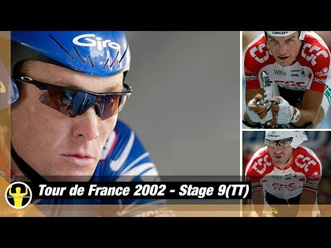 Tour De France 2002 - Stage9(TT) -  Can Igor Galdeano Keep Yellow From Armstrong? CSC Unlucky Again?