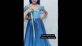 How to Take Girls Gown Measurements - Kids Party Long Gown Measurement 1 to 15 years