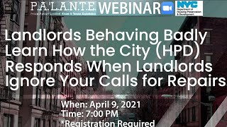 Landlords Behaving Badly - Learn How the City Responds When Landlords Ignore Your Calls for Repairs