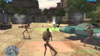 Star Wars Battlefront 1 gameplay Naboo Theed Clone Wars  mission 2