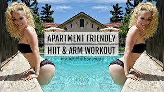 Apartment Friendly Dumbbell HIIT & Arms Workout   MFit Bikini Bootcamp