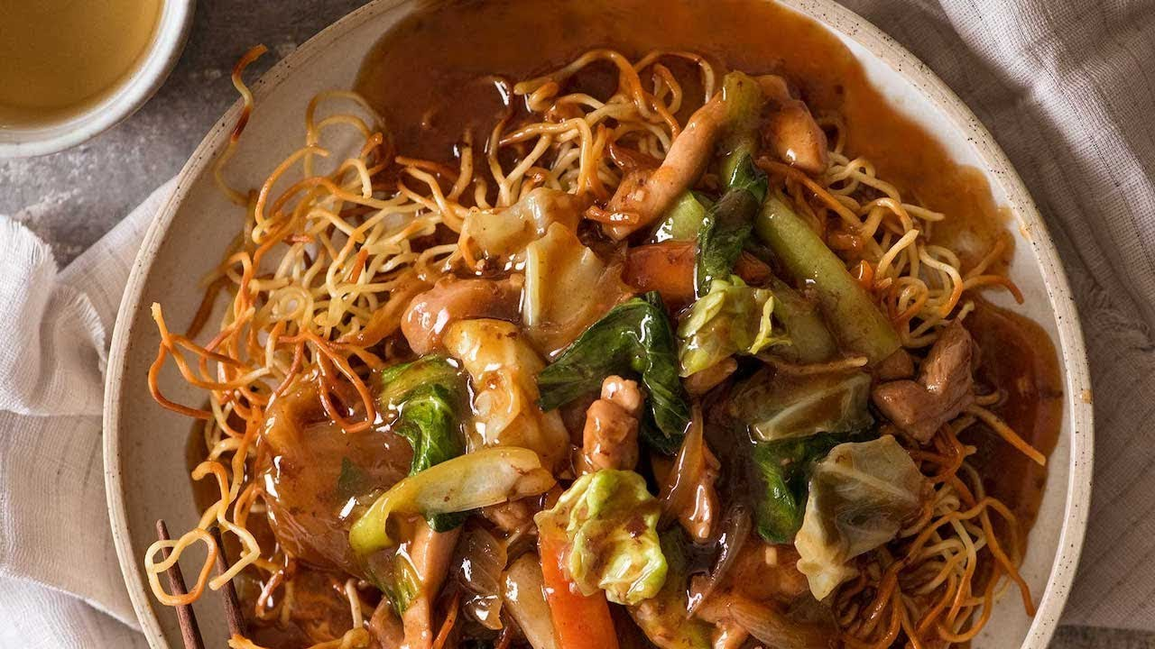 Chinese Crispy Noodles Chow Mein Youtube