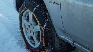 Обзор и тест цепей противоскольжения по насту, битва со снегом