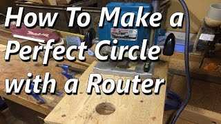 How to make a Perfect Circle Using a Router (Jig)