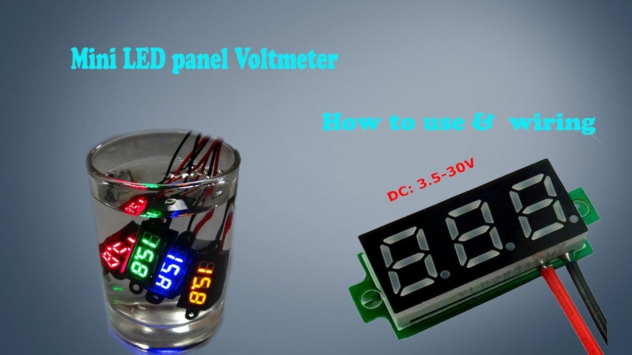 medium resolution of how to use digital led display mini dc volt meter 4 30v