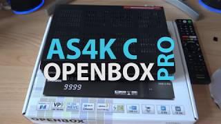4K ресивер OPENBOX AS4K CI PRO настройка НТВ+Триколор