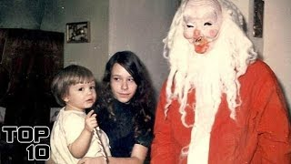 Top 10 Creepiest MALL Santas of All Time