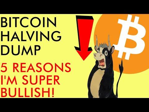 BITCOIN HALVING PRICE DUMP NOW! 5 REASONS I AM BULLISH ON BTC