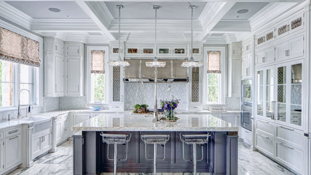 Marble Kitchen Kitchen Cabinets Ideas I White Marble I Absolute Kitchen